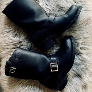 """Black """"moto"""" style boots - by Frye"""